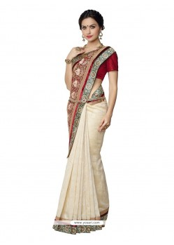 Ideal Patch Border Work Designer Saree