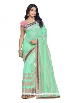 Phenomenal Patch Border Work Banarasi Silk Designer Saree