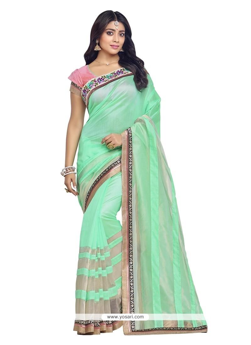 Phenomenal Patch Border Work Banarasi Silk Designer Saree