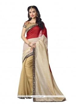 Transcendent Banarasi Silk Beige Designer Saree