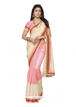 Exceeding Patch Border Work Banarasi Silk Designer Saree