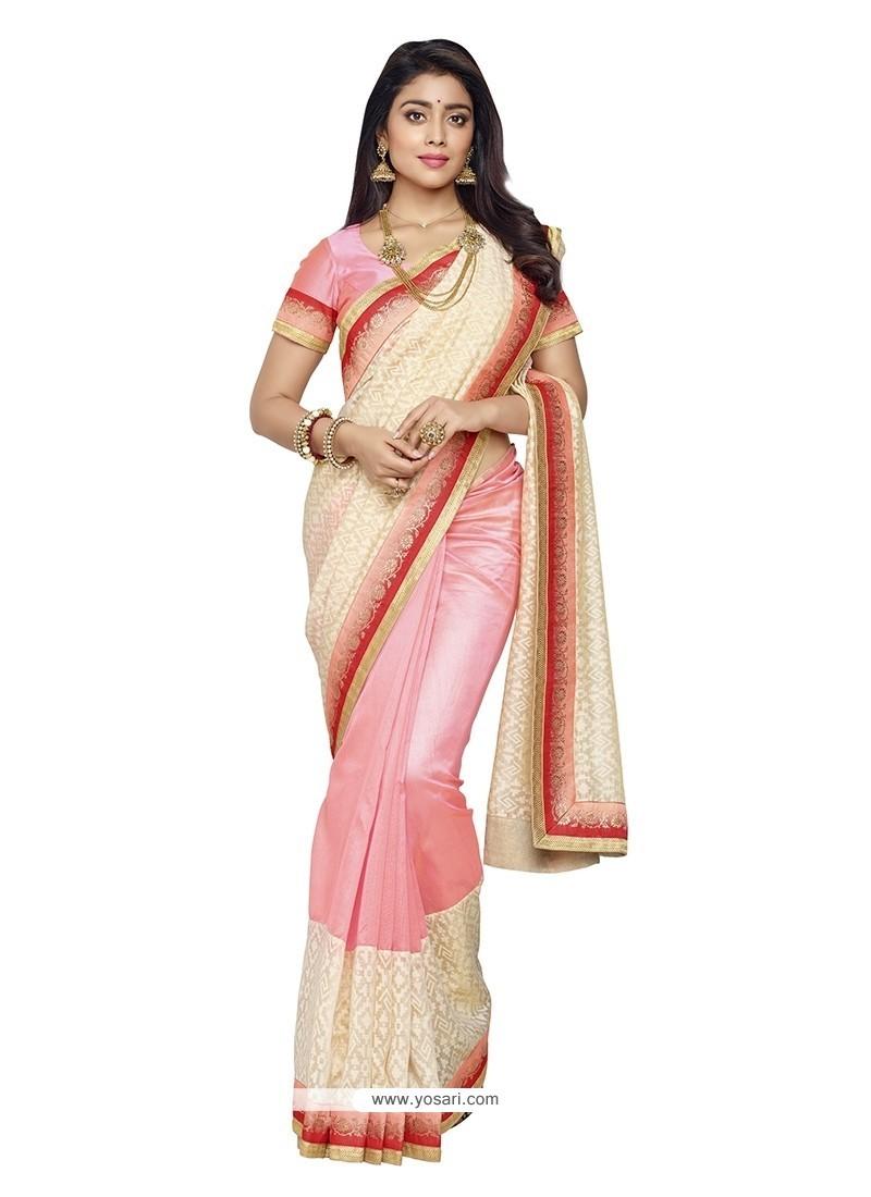 Exceeding Patch Border Work Banarasi Silk Designer Saree