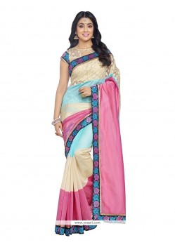 Magnetize Embroidered Work Multi Colour Designer Saree