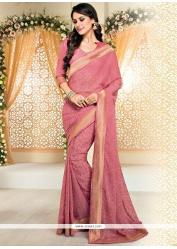 Pretty Brasso Hot Pink Casual Saree
