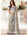 Floral Cream Casual Saree