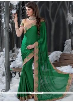 Fab Green Jacquard Designer Saree