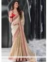 Cream Colour Jacquard Designer Saree