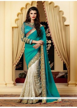 Splendid Off White Net Designer Saree
