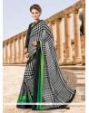 Magnetic Faux Crepe Multi Colour Designer Saree