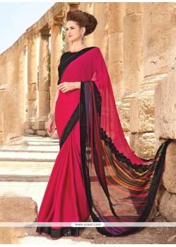 Delectable Red Designer Saree