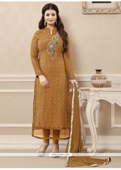 Competent Resham Work Designer Straight Salwar Kameez