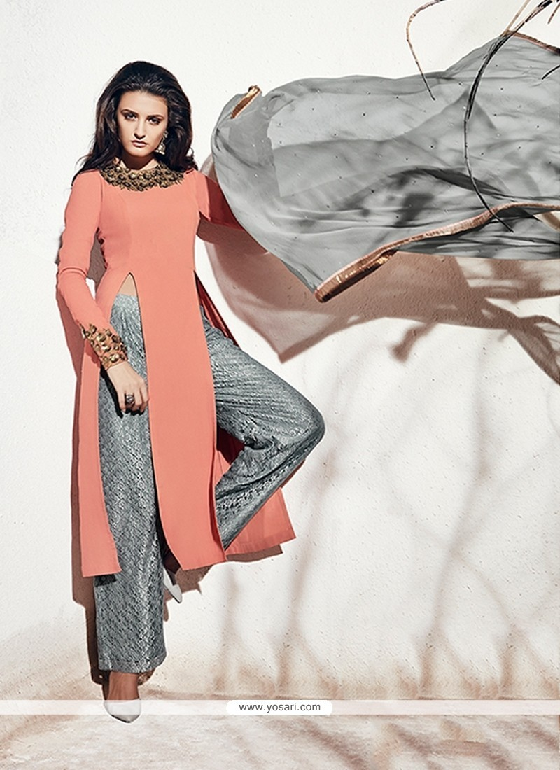 Zesty Embroidered Work Designer Suit