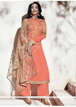 Mod Embroidered Work Georgette Designer Suit