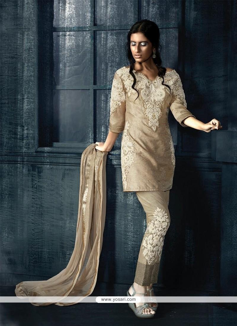 Prime Fancy Fabric Resham Work Designer Suit