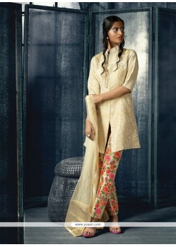 Charismatic Cream Designer Suit