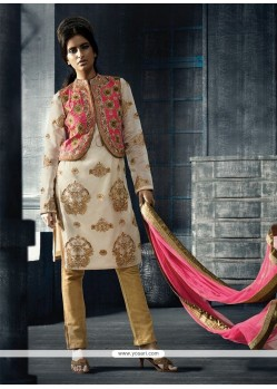 Surpassing Embroidered Work Multi Colour Designer Suit
