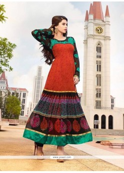 Multi Colour Georgette Anarkali Salwar Kameez