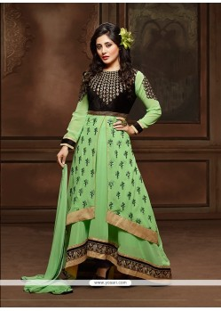Glorious Green Georgette Designer Suit