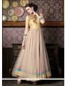Beckoning Pink Embroidered Work Satin Anarkali Salwar Kameez