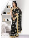 Eyeful Black Faux Chiffon Saree