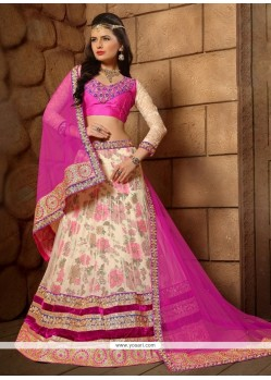 Exuberant Hot Pink A Line Lehenga Choli