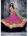 Beauteous Pink Fancy Fabric A Line Lehenga Choli
