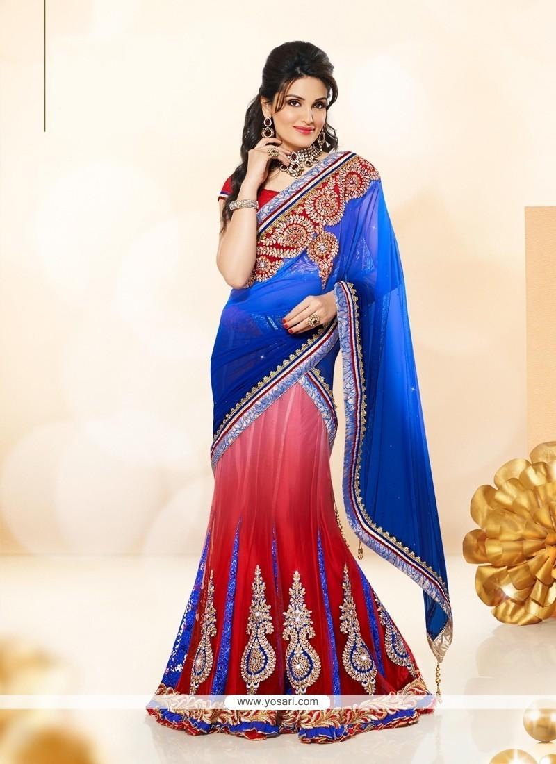 Opulent Blue A Line Lehenga Choli
