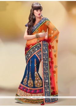 Exquisite Patch Border Work Net A Line Lehenga Choli