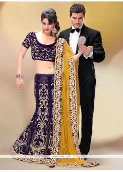 Flattering Patch Border Work Fancy Fabric A Line Lehenga Choli