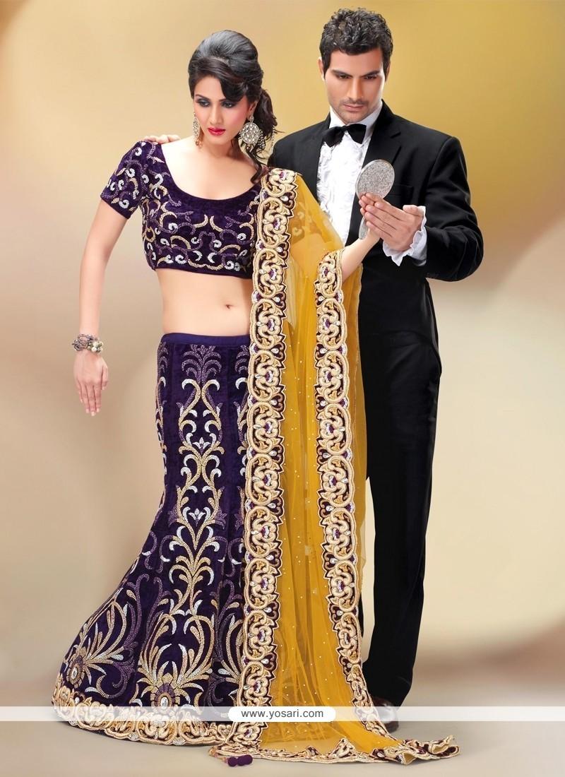 Flattering Patch Border Work Fancy Fabric A Line Lehenga Choli