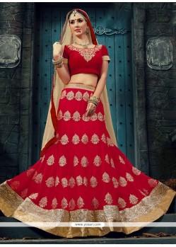 Picturesque Hot Pink Embroidered Work Designer Lehenga Choli