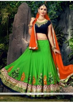 Green Embroidered Work Designer Lehenga Choli