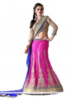 Girlish Hot Pink A Line Lehenga Choli
