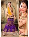 Wonderous Purple A Line Lehenga Choli