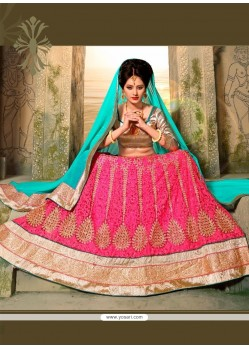 Excellent Patch Border Work A Line Lehenga Choli