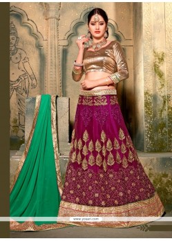 Beauteous Net A Line Lehenga Choli
