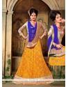 Mystical Multi Colour Embroidered Work A Line Lehenga Choli