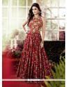 Multi Colour Cotton Embroidered Work Designer Gown