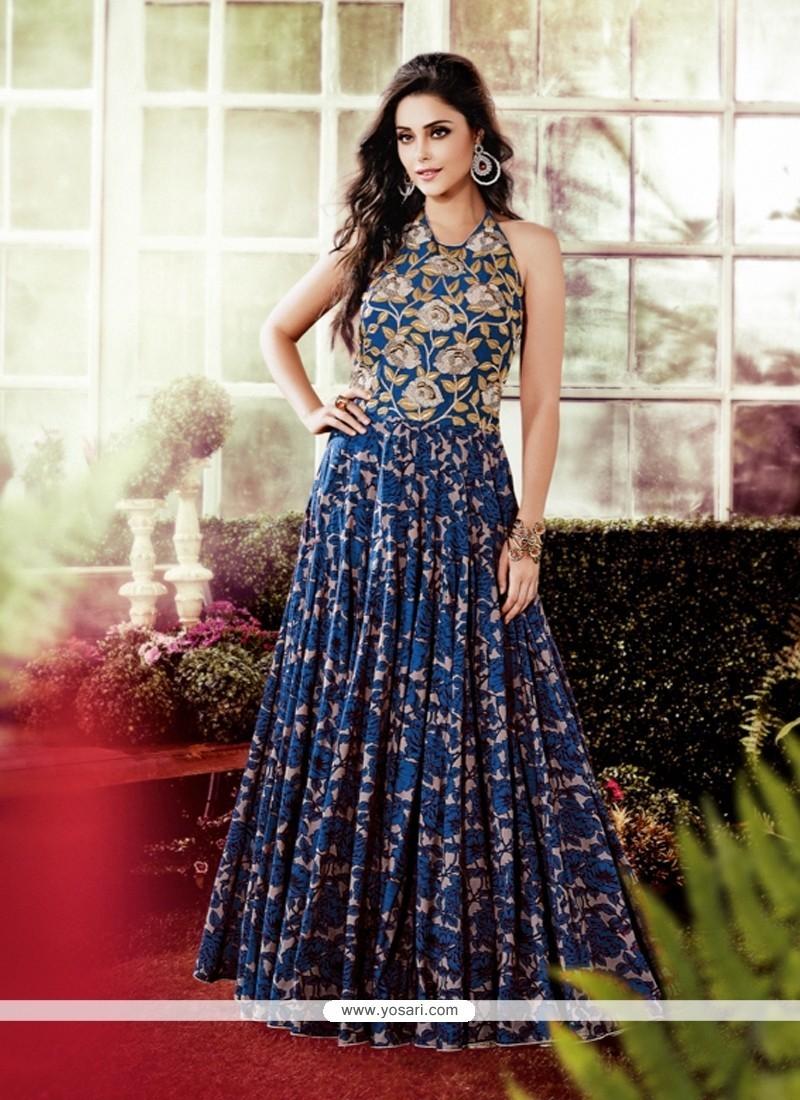 Shop online Trendy Cotton Multi Colour Designer Gown