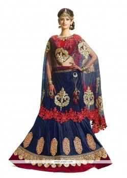 Perfect Patch Border Work Georgette A Line Lehenga Choli