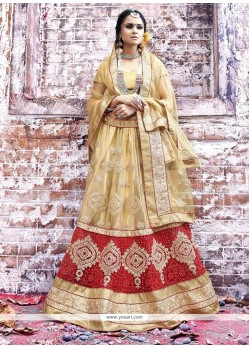Tempting Net A Line Lehenga Choli
