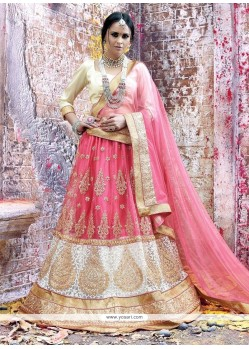 Tempting Embroidered Work A Line Lehenga Choli