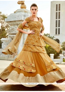Irresistible Georgette Patch Border Work A Line Lehenga Choli