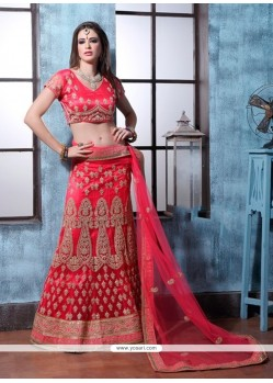 Extraordinary Red A Line Lehenga Choli