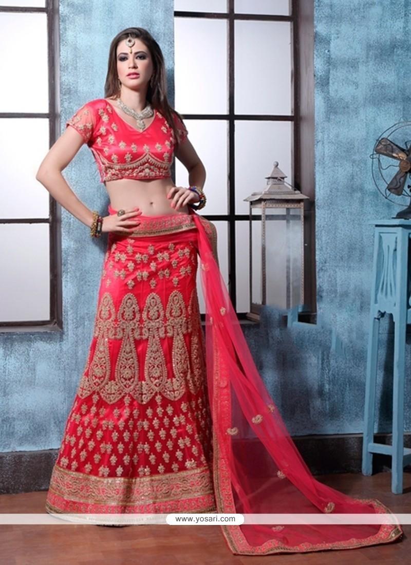 Extraordinary Red A Line Lehenga Choli