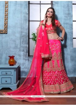 Heavenly Embroidered Work Net A Line Lehenga Choli