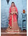 Flawless Red Banglori Silk A Line Lehenga Choli