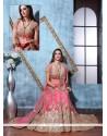 Sensible Pink Net A Line Lehenga Choli