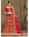 Elegant Velvet A Line Lehenga Choli