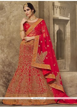 Mystic Embroidered Work Net A Line Lehenga Choli